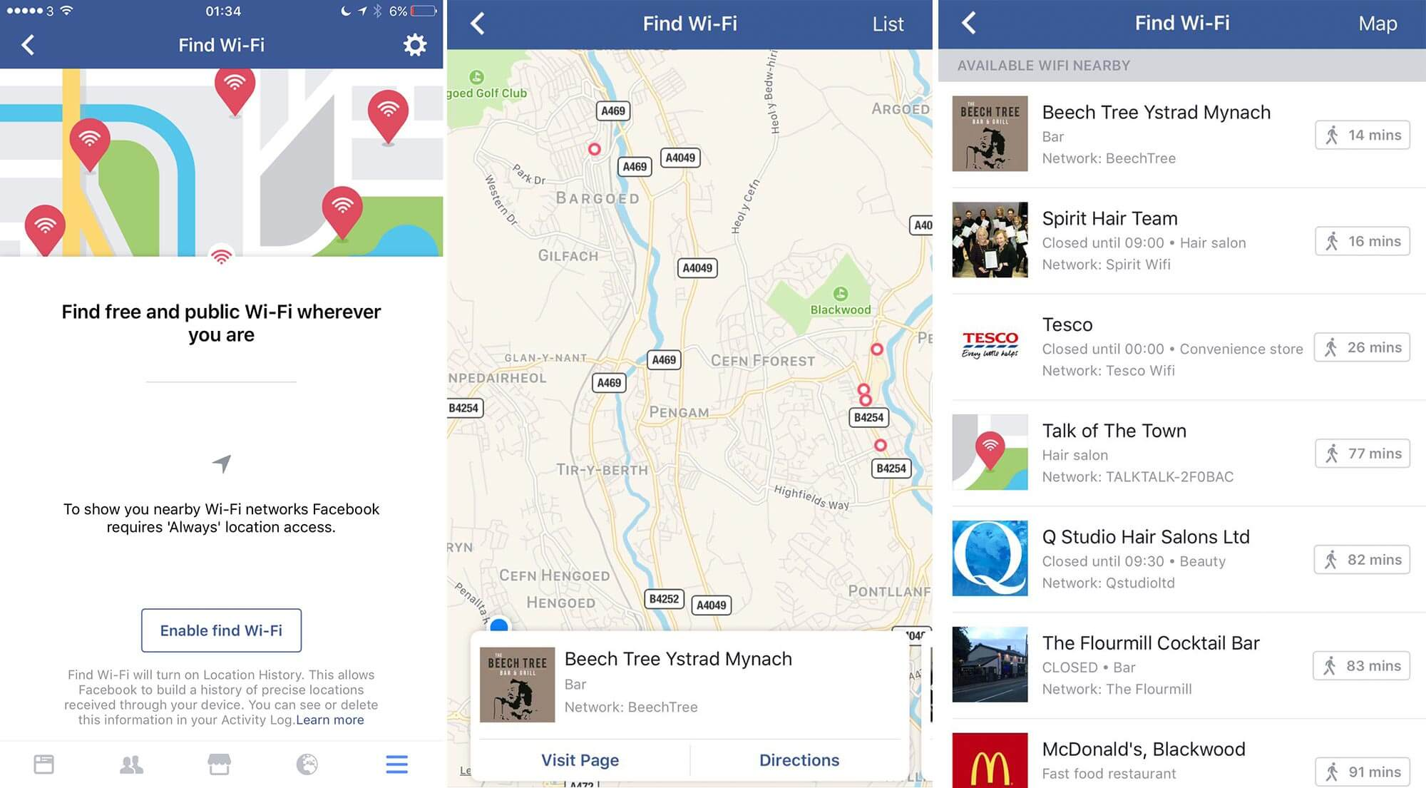 Facebook WiFi will Allow you to Search and Connect Nearby Hotspots