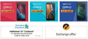 Amazon rs 2000 off moto g4