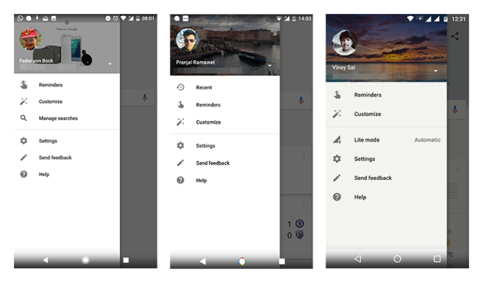 Google search app new features