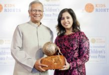 Indian Girl from UAE wins International Children's Peace Prize