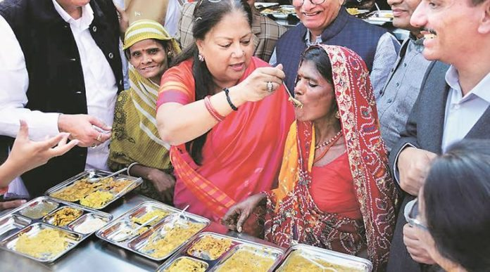 Vasundhara Raje launches-food-scheme