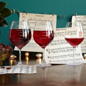 xmas gift ideas musical wine glasses