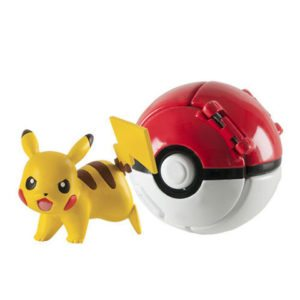 Throw and Pop, Pikachu and poke ball