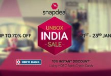 Snapdeal Unbox India Sale