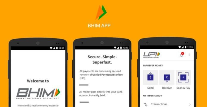 Send Money to Aadhaar number via BHIM App