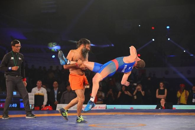 Baba Ramdev Beats Olympic Medalist Andrey Stadnik with 12-0