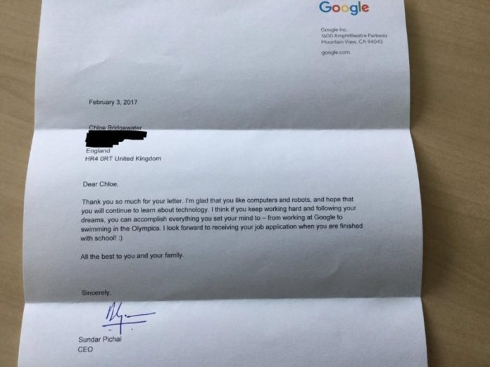 7 years old Asked Google for a Job