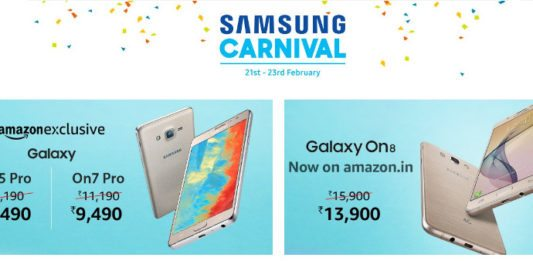 Samsung Carnival on Amazon India