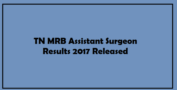 TN MRB Assistant Surgeon Results 2017