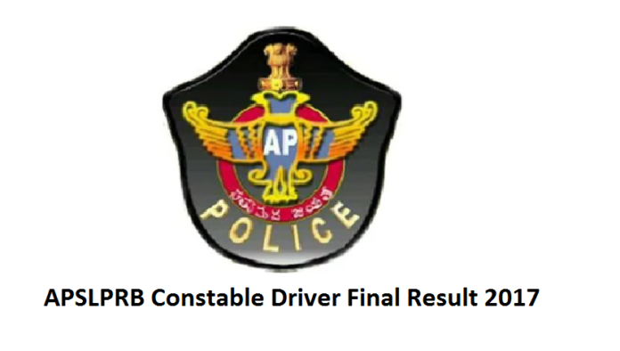 APSLPRB Police Constable Driver Main Result 2017
