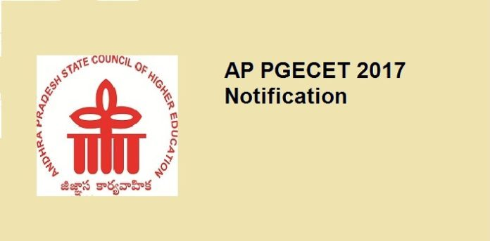AP PGECET 2017 Notification