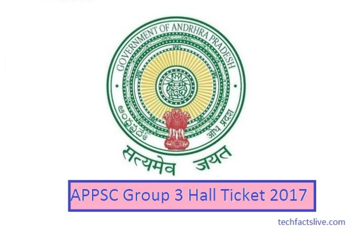 Andhra Pradesh Group III Hall Ticket 2017