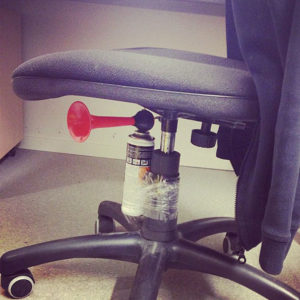 Attach Airhorn to the Seat