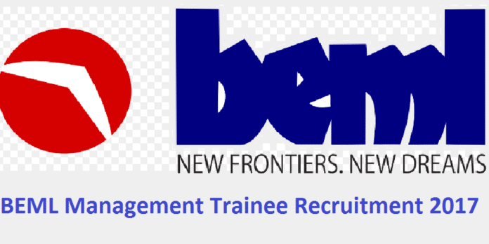 BEML Management Trainee Recruitment 2017