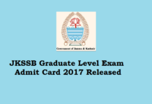 JKSSB admit card