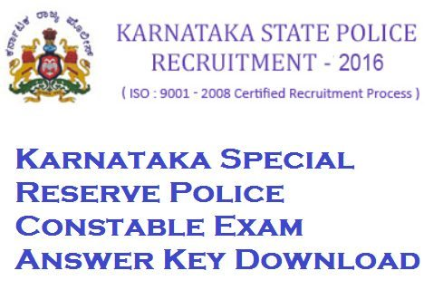 KSRP Constable Answer Key 2017