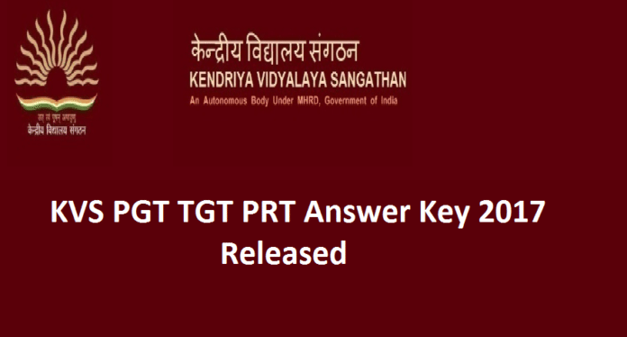 KVS PGT TGT Answer Key