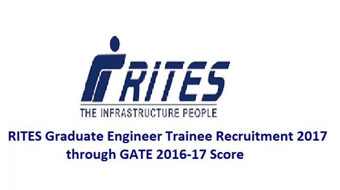 RITES GETs Notification 2017 through GATE