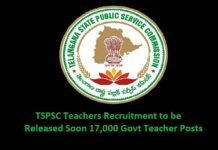 TSPSC Teachers Recruitment