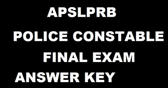 AP Police Constable Driver Mains Answer key 2017