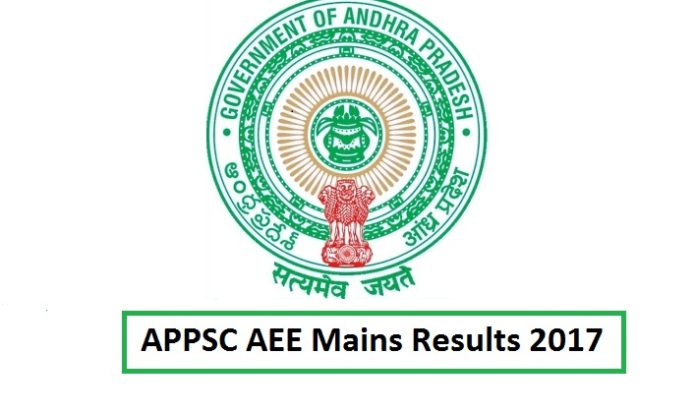APPSC AEE Mains Results 2017