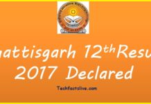 CGBSE 12th Result 2017