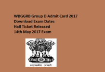 WBGDRB Group D Admit Card