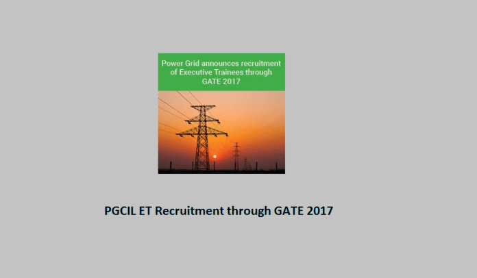 PGCIL Recruitment through GATE 2017