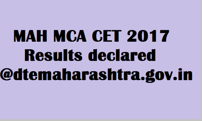 mah mca cet 2017 results