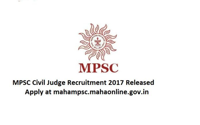 MPSC Civil Judge Recruitment 2017