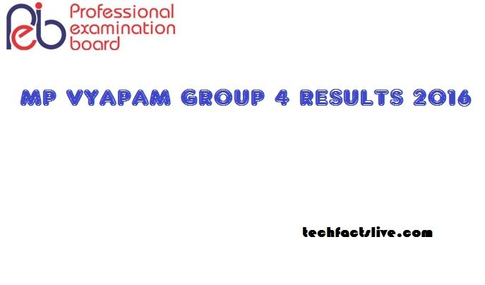MP Vyapam Group 4 Results
