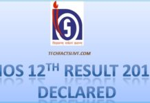 NIOS 12th Result 2017
