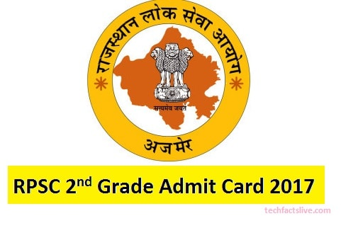 rpsc 2nd grade admit card