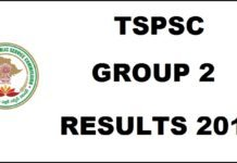 TSPSC Group 2 Result 2016