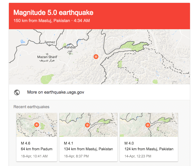 5.5 magnitude Earthquake shocks several cities in Pakistan