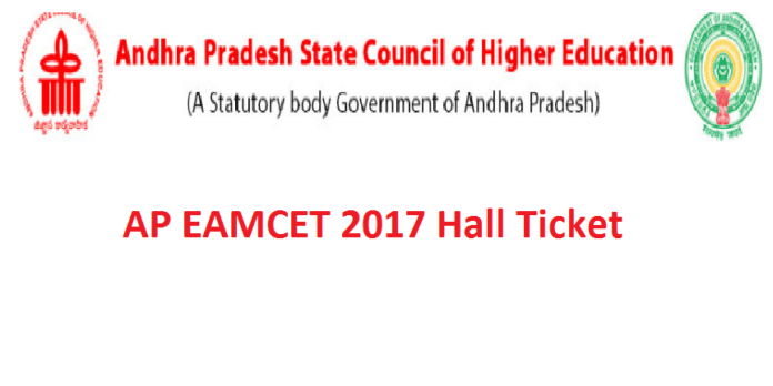 AP EAMCET 2017 Hall Ticket