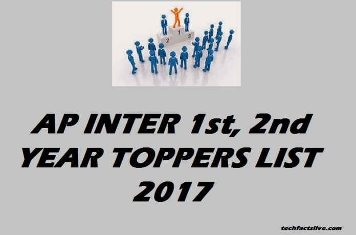 AP Inter 1st year 2nd Year Toppers list 2017