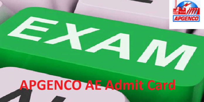 APGENCO AE Admit Card 2017