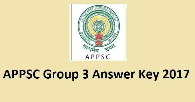 APPSC Group 3 Answer Key 2017