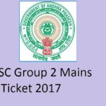 APPSC Group 2 Mains Hall ticket 2017