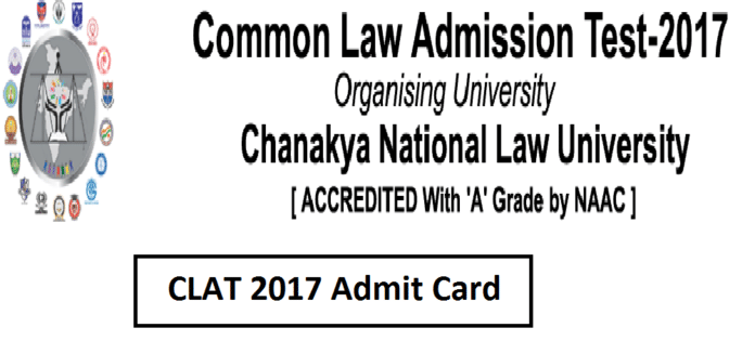 CLAT Admit Card 2017