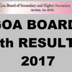 Goa Board 12th Results 2017 GBHSE