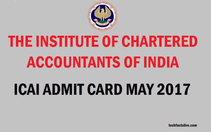ICAI Admit Card May 2017