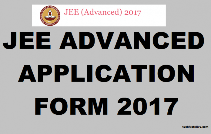 JEE Advanced Application form 2017