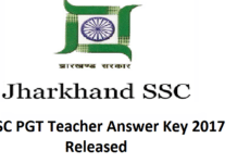 JSSC PGT Teacher Answer Key 2017
