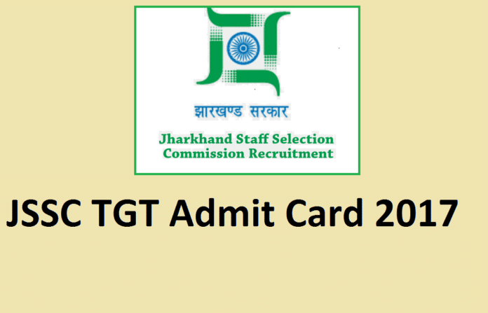 Jharkhand SSC TGT Admit card 2017