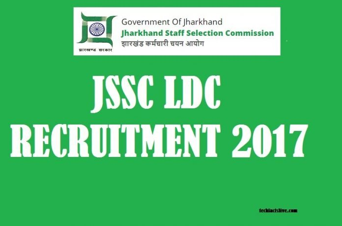 JSSC LDC Recruitment 2017