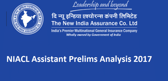 NIACL Assistant Prelims Exam Analysis 2017