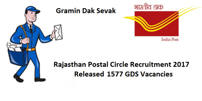 Rajasthan Postal Recruitment 2017