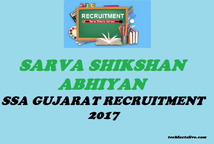 SSA Gujarat Recruitment 2017
